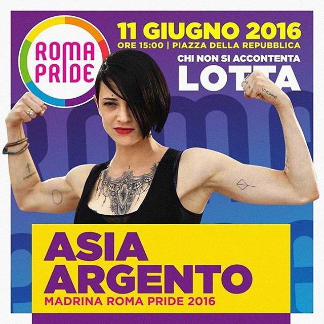 MADRINA ROMA PRIDE 2016 IL CICLONE ASIA ARGENTO CON NOIhellip