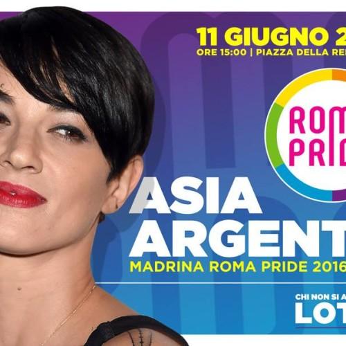 Madrina Roma Pride 2016: il ciclone Asia Argento con noi in parata