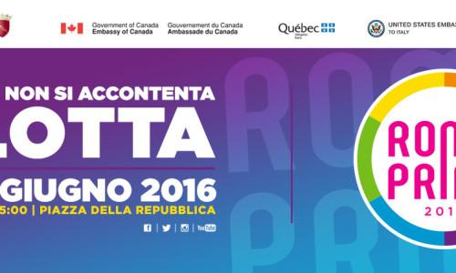 Il Patrocinio dell'Ambasciata Britannica di Roma alla Manifestazione Roma Pride 2016.