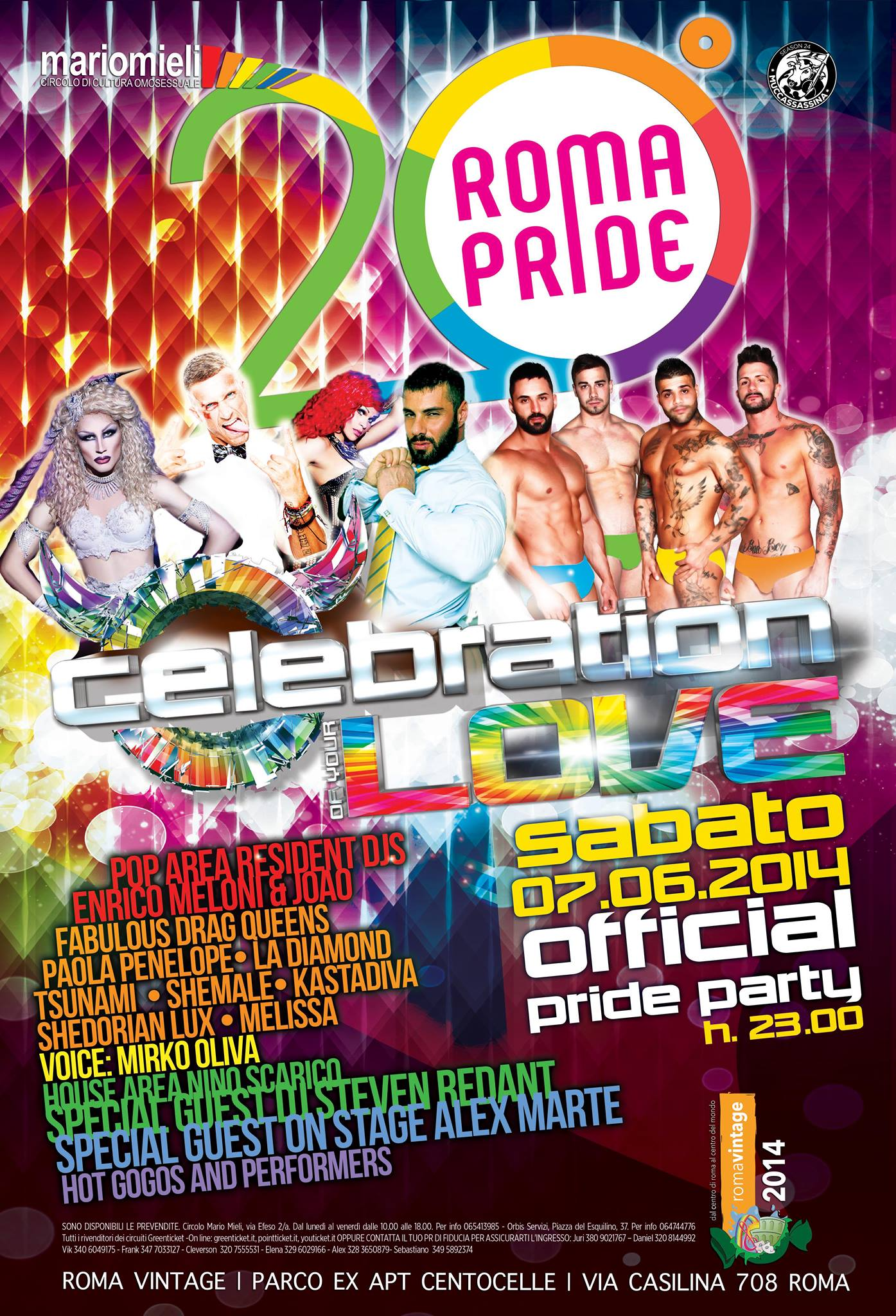 Celebration of your Love - Roma Pride Official Party