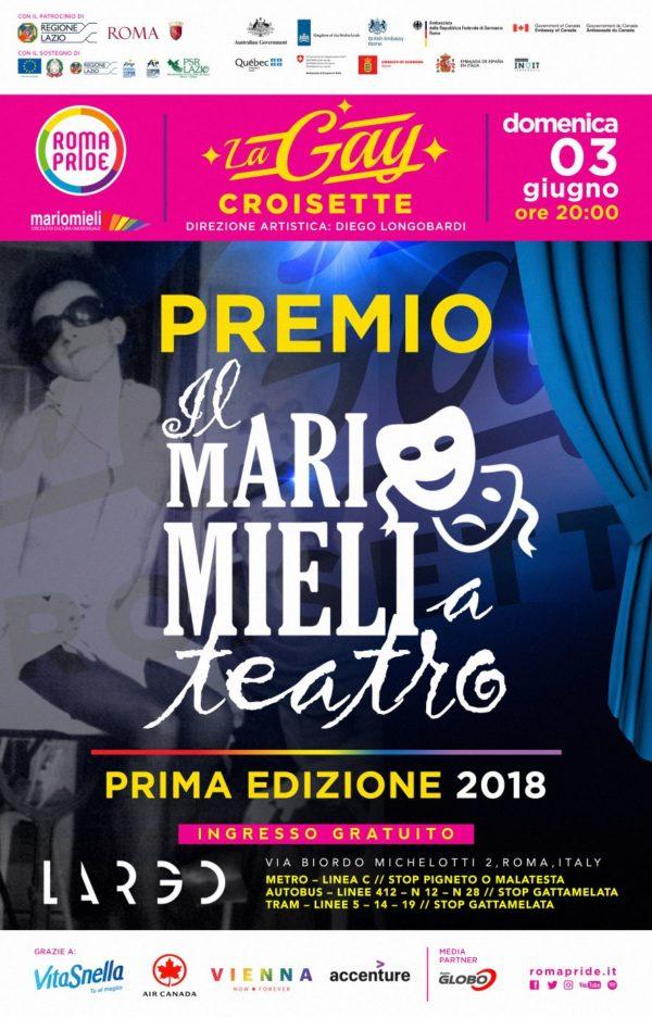 Gay Croisette - PREMIAZIONE - Il Mario Mieli a Teatro