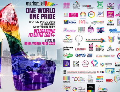 Oltre 50 Associazioni  LGBTQIA+ italiane al New York World Pride del 2019