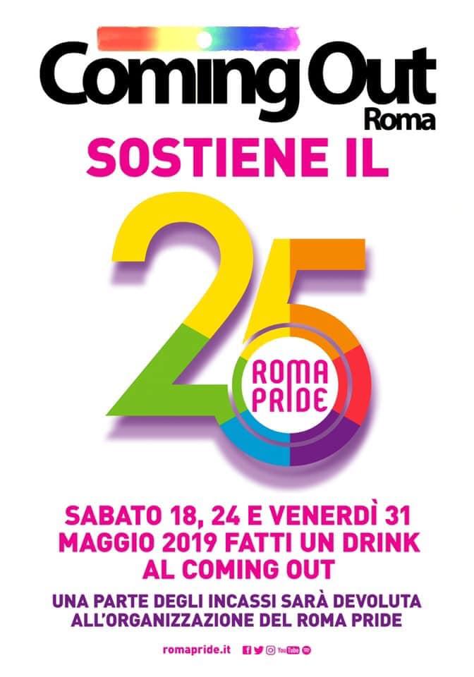 Il Coming Out sostiene il Roma Pride