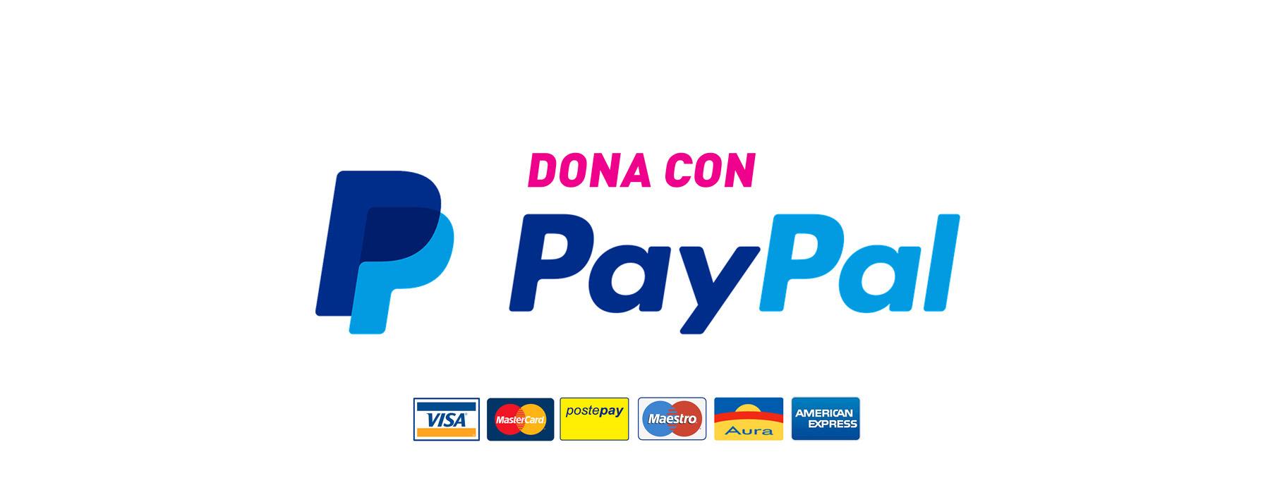 Sostieni il Roma Pride! Contribuisci con le tue donazioni, puoi utilizzare la carta di credito o il tuo account PayPal.