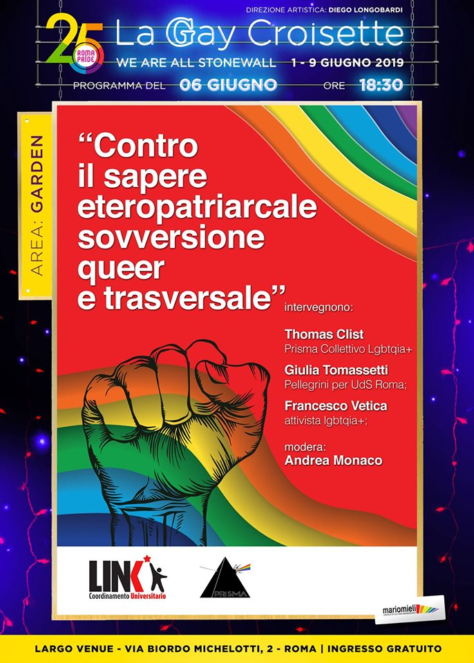 Gay Croisette - Contro il sapere eteropatriarcale sovversione queer e trasversale
