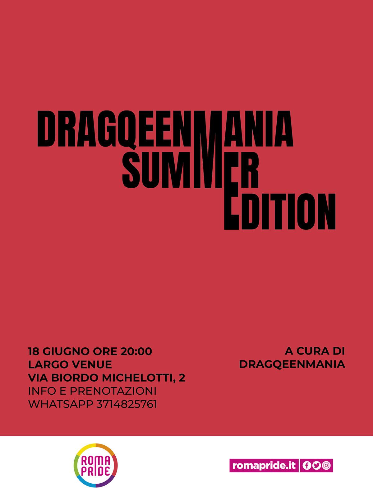 Roma Pride 2021 - Drag Queen Mania Summer Edition