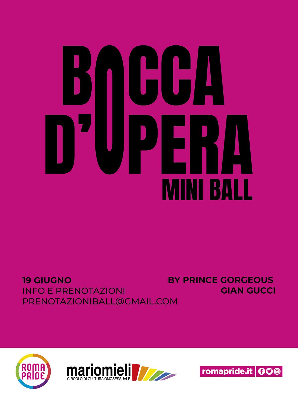 Roma Pride 2021 - Bocca d'Opera Mini Ball