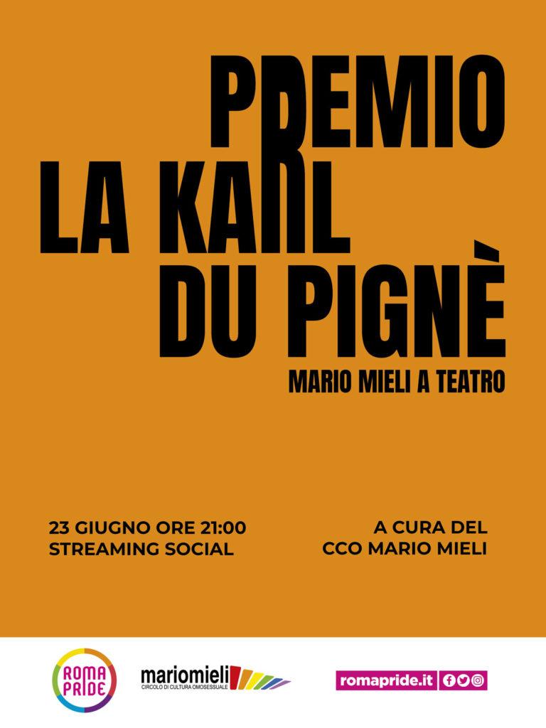 Roma Pride 2021 - Premio La Karl Du Pignè