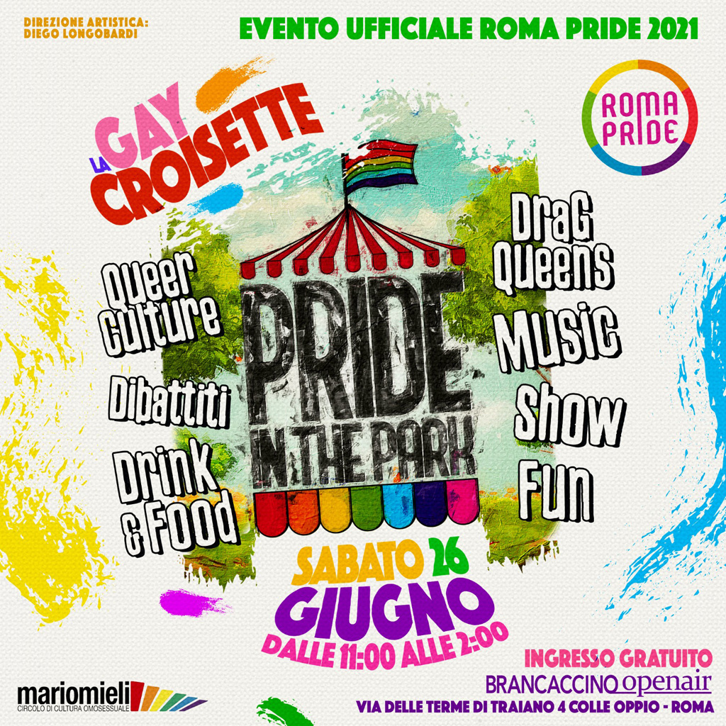 Roma Pride 2021 - GayCroisette del 26/06/2021