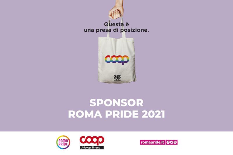 RomaPride2021 - Comunicato - Coop a fianco del Roma Pride 2021