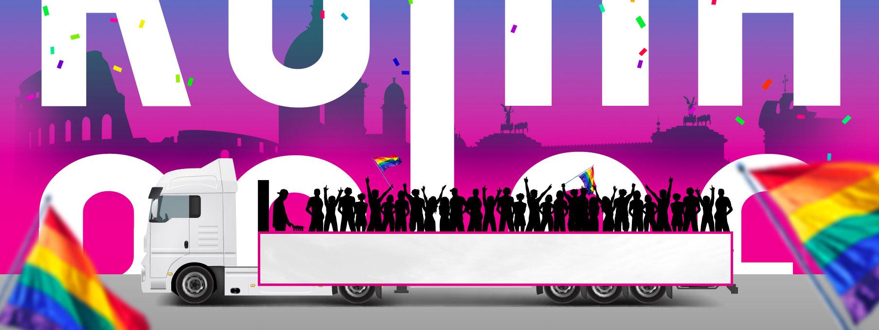 Roma Pride 2018 - Servizio Carri
